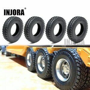 INJORA 4ピース/セット85 * 20MMラバーホイールタイヤタイヤ1:14タミヤトラクタートラックRCカーパーツ S2033002581990