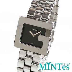 GUCCI グッチ Gスクエア レディース 腕時計 クォーツ 3600J ブラック シルバー SS シンプル お洒落 上品 ビジネス 女性 Gマーク 人気 定番