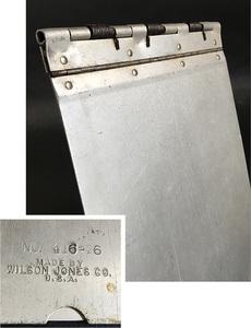 1940's ビンテージ アルミ製バインダー/ライト/ファイル/o.c.white/gras/店舗什器/デスク/椅子/アンティーク/照明/ランプ/工業系/レジ/看板