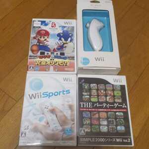 任天堂 Wii ソフト マリオ 北京オリンピック Wiiスポーツ パーティーゲーム ヌンチャク