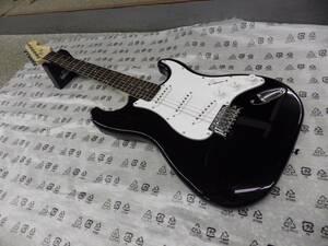 新品未使用品 ノーブランド ストラトタイプ エレキギター ブラック ソフトケース・ケーブル・トレモロアーム付属