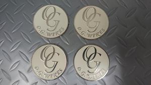 セール品 ホイールチップ OG メタルチップ 58mm ワイヤー インパラ シボレー ブロアム タウンカー ベルエア 白 LA ノックオフ