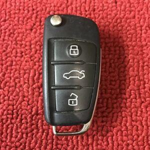 アウディ 純正 キーレス ジャックナイフキー 3ボタン トランクボタン 作動チェック済み GG474