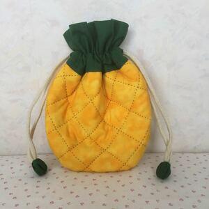 パイナップル 巾着 ハンドメイド ハワイアン