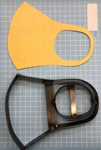 ストレッチマスクの抜き型 オーダーメイド レザークラフト