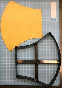 マスクLの抜き型 オーダーメイド レザークラフト