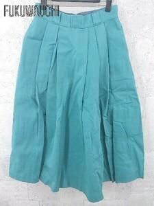 ◇ B:MING by BEAMS × Dickies ビームス 別注 ロング プリーツ スカート Mサイズ グリーン レディース