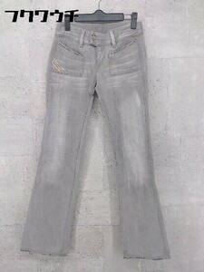 ◇ DIESEL ディーゼル イタリア製 HUSH ジーンズ デニム パンツ 25 グレー * 1002799174541