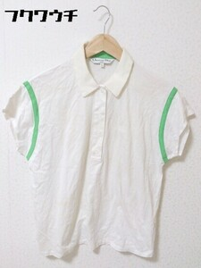 ◇ Christian Dior クリスチャンディオール フレンチスリーブ ポロシャツ サイズL オフホワイト レディース
