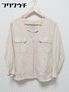 ◇ studioclip スタジオクリップ 長袖 ジップアップ ジャケット サイズL ピンクベージュ レディース