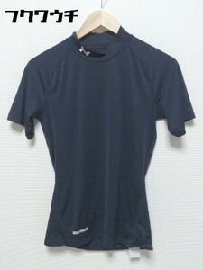 ◇ UNDER ARMOUR アンダーアーマー コンプレッションウェア 半袖 Tシャツ カットソー ハイネック ネイビー メンズ
