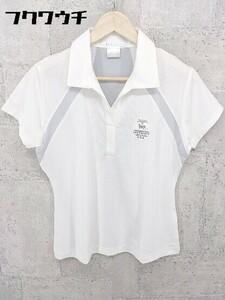 ◇ NIKE GOLF ナイキ ゴルフ 切替 半袖 シャツ サイズM オフホワイト グレー レディース