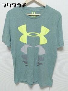 ◇ UNDER ARMOUR アンダーアーマー 半袖 プリント Tシャツ カットソー サイズLG グリーン系 メンズ