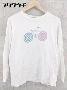 ◇ TOKYO CULTUART BY BEAMS トーキョー カルチャート 長袖 Tシャツ カットソー サイズM ホワイト マルチ レディース