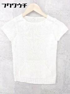 ◇ Ray BEAMS レイ ビームス フレンチスリーブ セーター オフホワイト系 * 1002800081691
