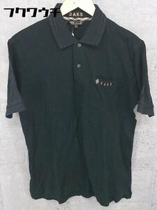 ◇ DAKS ダックス 半袖 ポロシャツ M ブラック # 1002800268283