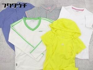 ◇ adidas まとめ売り5点セット XSサイズ& OTサイズ& Mサイズ& Lサイズ& XSサイズ相当 Tシャツ カットソー ポロシャツ * 1002799852388