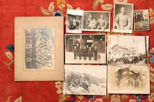 ●戦前地方人写真9枚[●]日本軍日本陸軍'30s'40sスーツ背広国民服
