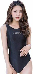 【ZMOST 最新作】コスプレ衣装 競泳水着型 ☆高品質の生地体操服☆ 伸縮性あり ブラック フリーサイズ
