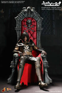 新品未開封 スケールフィギュア 1/6 キャプテンハーロック (髑髏の椅子付き) ホットトイズ