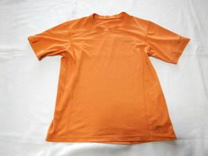 ARC'TERYX アークテリクス 半袖Tシャツ オレンジ  メンズS~Mサイズ 伸縮生地