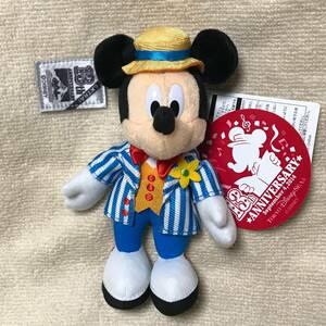 【送料込】 TDS シー 13周年 アニバーサリー ミッキー マウス ぬいぐるみバッジ ぬいば 13th 記念 東京ディズニーシー アメフロ 新品未使用