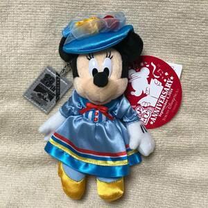 【送料込】 TDS シー 13周年 アニバーサリー ミニー マウス ぬいぐるみバッジ ぬいば 13th 記念 東京ディズニーシー アメフロ 新品未使用