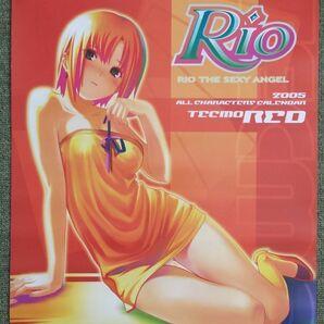 ★送料無料★新品 カレンダー 2005 RIO THE SEXY ANGEL 2005 ALL CHARACTERS CALENDAR TECMO RED ネット NET