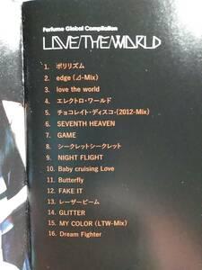 Perfume パフューム☆LOVE THE WORLD☆全16曲のベストアルバム♪BEST。送料180円か370円(追跡番号あり)