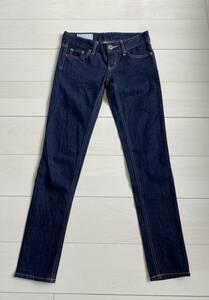 美品 SLY JEANS スライジーンズ 濃紺 インディゴ スリムデニムパンツ 美脚ジーンズ 25インチ