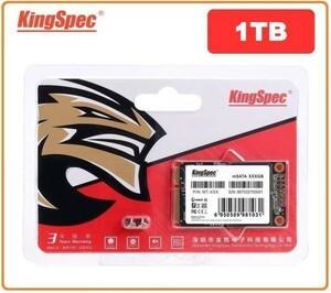 ★最安値!!安心の国内対応★KingSpec SSD mSATA 1TB 内蔵型 MT-128 3D 高速 3D NAND TLC デスクトップPC ノートパソコン DE024