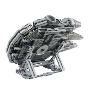 ★激レア!!★LEGO レゴ 互換 スター・ウォーズ ミレニアム・ファルコン 75212 75192 3D ディスプレイ スタンド 407pcs (グレー) L59