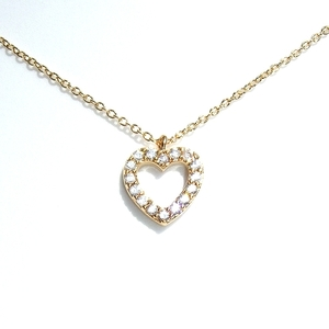 K16GPCZ Pave Heart Ultrama Ожерелье