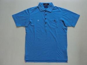 le coq sportif ルコック スポルティフ ゴルフウェア ポロシャツ QG2740青 L USED