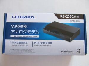 ★美品★IO DATA★外付け RS-232C接続 56kbpsモデム★DFM-56S