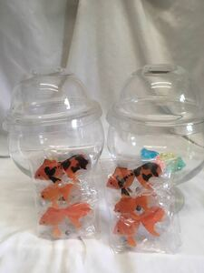 昭和 レトロ 金魚 水中金魚 ガラス 夏 容器付き 2セットで