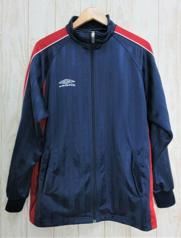 UMBRO/アンブロ:トレーニングジャケット ジャージトップ トラックジャケット ネイビー/サイズO/メンズ/中古/USED