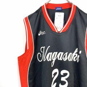【レア】アシックス 長崎代表 バスケットボール #23 ユニフォーム セットアップ 黒赤 上Oサイズ 下XOサイズ コレクターズ