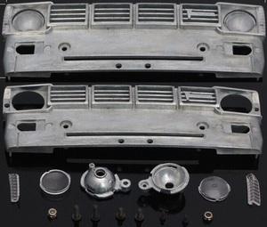 タミヤハイラックス用金属製フロントグリル(RC4WD TF2,ブルーザー,ハイリフト,HG P407)