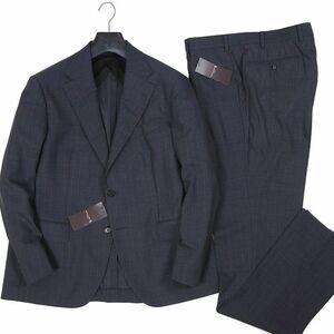 新品 定価16.5万 マッキントッシュロンドン イタリア製生地 シャドウストライプ ウールスーツ BB4 灰 MACKINTOSH LONDON 背抜き G638