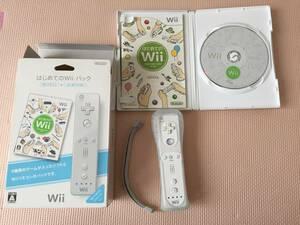 【程度良好】Nintendo Wii はじめてのWiiパック Wiiモーションプラス セット 白