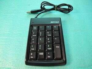 BUFFALO 有線テンキーボード ブラック