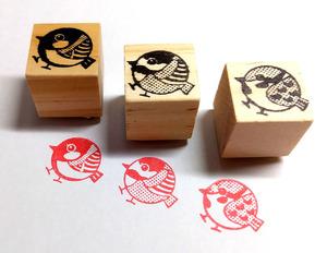 [.. circle small bird stamp *3 piece set ].!== free shipping & small bird postcard 3 sheets present!==#04