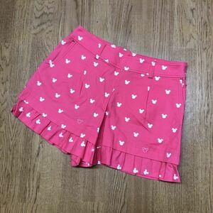 【Disney SPORT × Munsingwear】デサント / 日本製 ディズニー マンシングウエア レディース 11 ミッキー柄 ショートパンツ ゴルフウエア