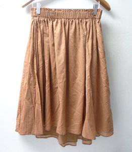 ◆DEMI LUXE BEAMS ビームス 16ss プリーツ スカート サイズF 薄茶系 68-27-0258-002