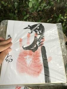 ★ 大相撲 相撲 肉筆 直筆 サイン色紙 骨董 昭和レトロ ビンテージ アンティーク
