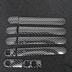 スポーティ全開♪ カーボン ルック ドアハンドル カバー デリカ D:2 D2 MB15S MB36S MB46S ハイブリッド カスタムハイブリッド SV MX MV MZ