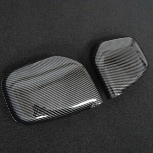 sport opening fully! carbon look door mirror cover Pajero Mini H53A H58A S X R V XR VR ZR sport Duke links garnish