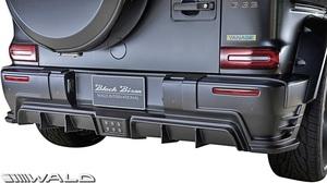 【M's】W463 ベンツ AMG G63 G550 G350d (2018y-) WALD Black Bison リヤバンパースポイラー//ABS ヴァルド バルド エアロ Gクラス