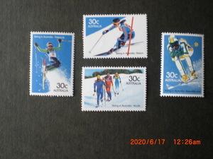 豪州のスキーーノルデイック他 4種完 未使用 1984年 オーストラリア共和国 VF・NH